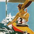 Plakat zur Slalomweltmeisterschaft in Steyr 1951