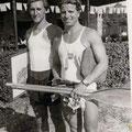 Herbert Schreiner / Fritz Rittsteiger Forelle Steyr - 1950 Sieger einer internationalen Regatta in Kalsruhe