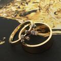 Set trouwringen gemaakt van 'oud familiegoud'