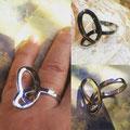 'Vlinderring' zilver - speciale herinner-ring in opdracht gemaakt