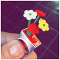Lego-ring met wisselbare versiering