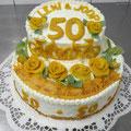  8 : Torte zur Goldenen Hochzeit