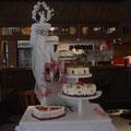  2 : Hochzeitstorte auf Wendeltreppe