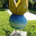 Skulptur von Martin Knaus: Der Boulekönig    Foto: Martin Knaus