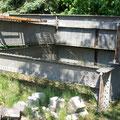 Die erste Brücke aus Aluminium in Ungarn (die zweite auf dem Kontinent), gebaut 1950.