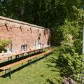 Kaffeetafel im Naschgarten von Klausdorf