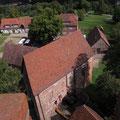 Vom Turm der Burg hinuntergeschaut