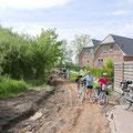 Über Bahnradwege und Baustellen führte uns die heutige Tour.