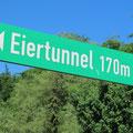 Attraktion zu Beginn der Tour in Bad Kleinen- Der Eiertunnel