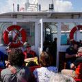 Von hier aus ging es eine Stunde auf Schifffahrt, in der Hoffnung, viele Seehunde zu sehen.