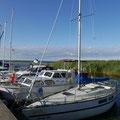 Über sieben Berge erreichten wir den Hafen von Kummerow