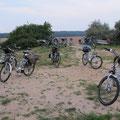 Die Fahrräder haben Pause - Stopp an der Benzer Mühle