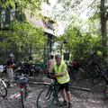 Start war in Kleinmachnow und auf diesem Foto waren wir nun schon am Wannsee angekommen.