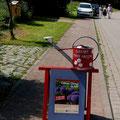Hinweisschild zum Garten Frida-Helene in Buchholz
