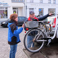 Räderverladung auf dem Ribnitzer Markt