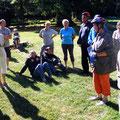 Erste Pause in Althof - Eintauchen in die Geschichte