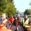 Erster Stopp am Storchennest vor dem Pflegeheim in Freudenberg.