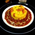 ドイツ食材が入った堅焼きオムレツ「ホッペルポッペル」