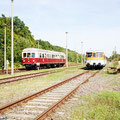 Der Ostfalen Courier im Doppelpack am ehemaligen Staatsbahnhof von Weferlingen - Je nach Größe der Reisegruppe können verschiedene Fahrzeuge aus verschiedensten Richtungen eingesetzt werden. — hier: Flecken Weferlingen