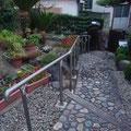 【H邸】屋外用ステンレス製手すり。
