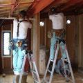 電気配線工事。