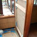 天井や床を撤去せず、壁補修のみで耐震改修をしています。