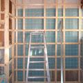 新しい倉庫の下地造作工事。