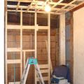 天井、壁の木下地造作工事。