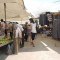 Markt in Tasucu und Inge mittendrin