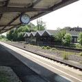 der trostlose Bahnhof von Rinteln, von dem es zurück nach Hann Münden geht