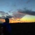 Sonnenuntergang mit Sohnemann