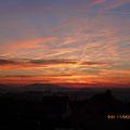 Sonnenaufgang über den Gleichbergen (Dezember 2013)