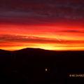 Sonnenaufgang über den Gleichbergen (Weihnachten 2013)
