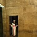 Photoshooting im Tempel der Göttin Isis (Philae-Tempel in Oberägypten)