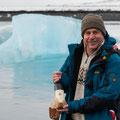 Matthias Leeb in Jökulsarlon/ Island Gletscherlagune März 2013