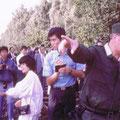 1985 Besichtigung der Zonengrenze bei Büchen mit Manfred Söker