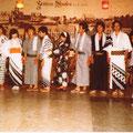 1980 Damen im Kimono