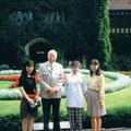 1996 Saikiko, Hr. Rode, Hisoko, Miki im Cecilienhof Potsdam