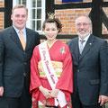2007 Stellv. Bürgermeister Wiese, Kirschblütenkönigin, Vorsitzender der DJG Kattner