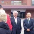 2008 Kurita-san empfängt die Reisegruppe