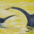 Dinosour, 100 x 40 cm, Öl auf Leinwand