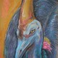 Kasuar III, Pastell, 35 x 50 cm
