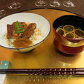 食事(鰻ご飯、赤だし)