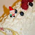 Bizcocho de Navidad ligero coco y frutos rojos