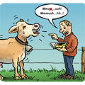 Cartoon Kuhflüsterer