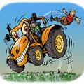 Cartoon Traktor angurten