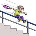 Cartoon Fit im Alter