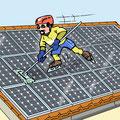 Cartoon Photovoltaik