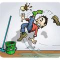 Cartoon Rutschgefahr