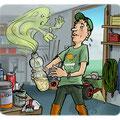 Cartoon Vergiftungen